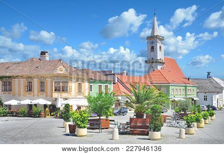 Market Place Of Rust At Neusiedlersee In Burgenland,austria