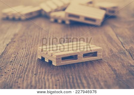Wooden Pallets On Woden Background