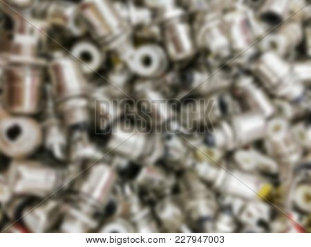 Blurred Silver Audio Jack Adapter Background Texture.