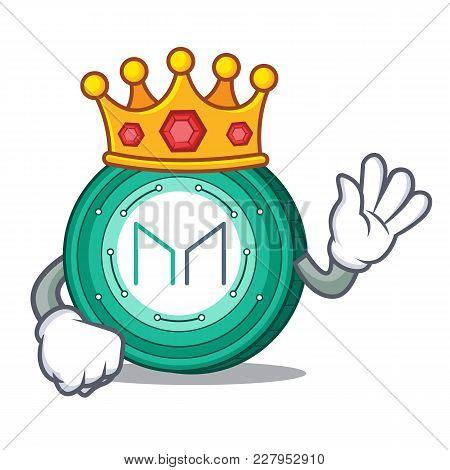King Maker Coin Mascot Cartoon Vector Illustration