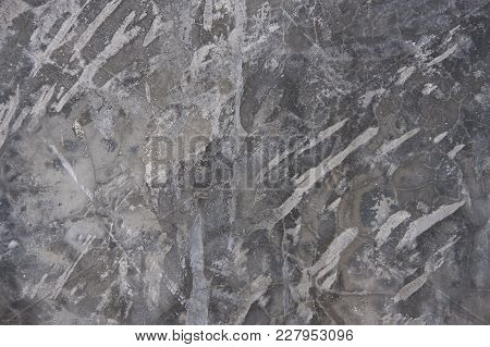 Grey Textured Concrete Wall. Exposed Concrete