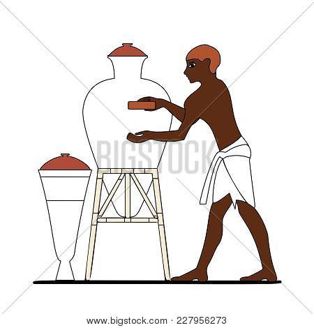 Ancient Egypt Ceramist At Work, Ancient Egypt People, People Of The Nyle, Egypt Murals