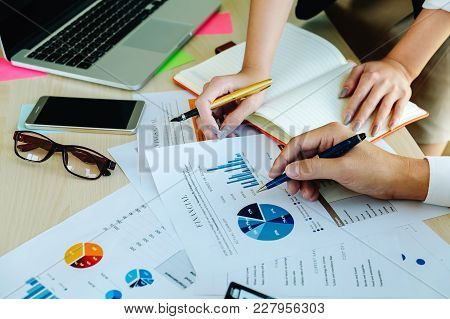 Business Man Meeting Conferance Colleagues For Planning A Marketing Plan To Improve The Quality Of T