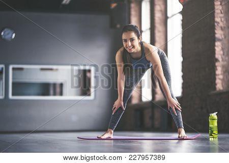 Sport Girl Doing Yoga