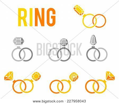 Luxury Accessories For Jewelry. Gold And Jewelry Luxury, Diamond And Golden Ring Accessory Illustrat