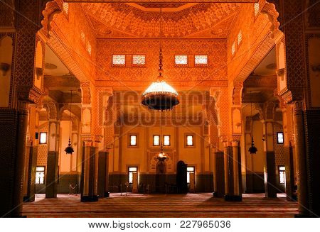 Interior Of Niamey Grand Mosque, Funded With Money From Libyan Government Of Gaddafi - 21 September