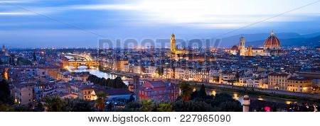 View From Piazzale Michelangelo In Florence, Italy.