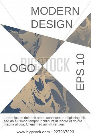 Minimum Vector Coverage. Contemporary Abstract Cover. Rich Design Of Vip. Future Futuristic Template