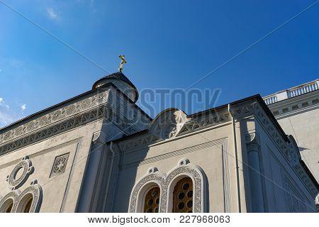 Yalta, Crimea-may 30, 2016: The House Church Of The Romanov Family In Livadiya
