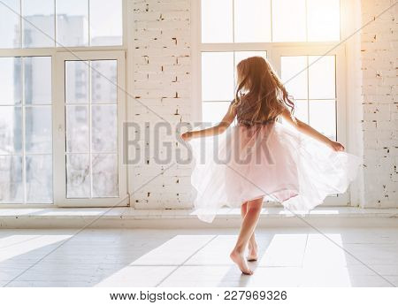 Cute Little Girl In Dress