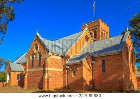 Victorian Romanesque Style Holy Trinity Anglican Church Completed In 1854 In York, A Popular Tourist