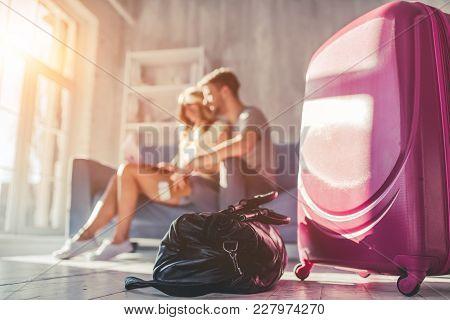 Couple Preparing For Travel