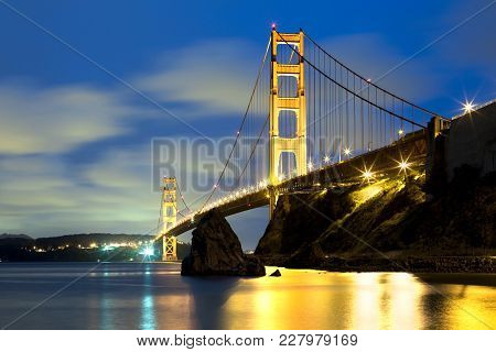 The Golden Gate Bridge In San Francisco, California, Usa