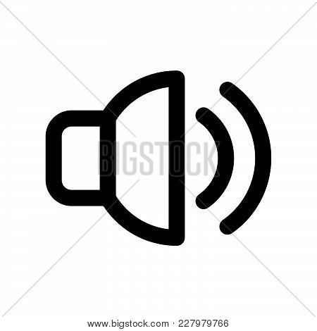 Sound Volume Icon Isolated On White Background. Sound Volume Icon Modern Symbol For Graphic And Web