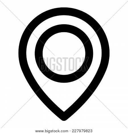 Location Pin Icon Isolated On White Background. Location Pin Icon Modern Symbol For Graphic And Web