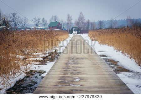 Wooden Path To Orthodox Skete - Monastic Community In Ordynki, Small Village In Podlasie Region Of P