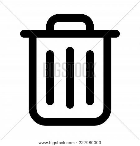 Trash Can Bin Icon Isolated On White Background. Trash Can Bin Icon Modern Symbol For Graphic And We
