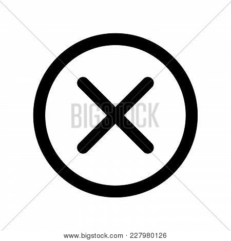 Delete Icon Vector, Trash Can, Bin, Garbage Sign Isolated On White Background. Trendy Flat Style For