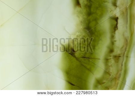 Shiny Natural Onyx Texture With Contrast Green Colour. High Resolution Photo.