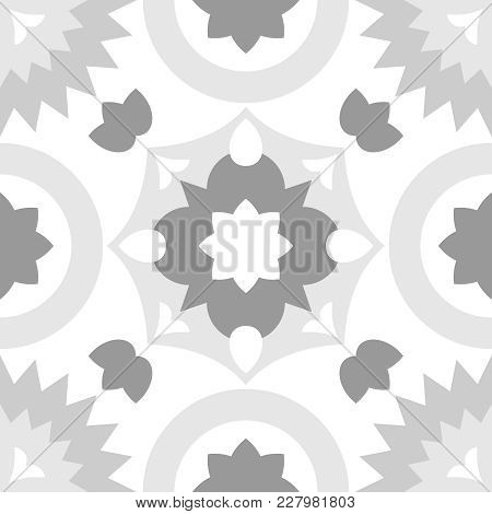 Tile Grey And White Decorative Floor Tiles Vector Pattern Or Seamless Background
