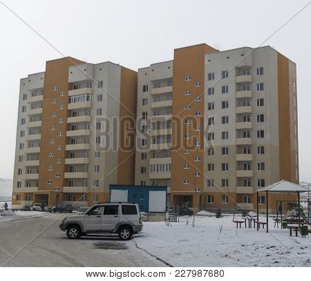 Modern Apartment Buildings. Apartment Block. Residential Buildings. Housing Estate