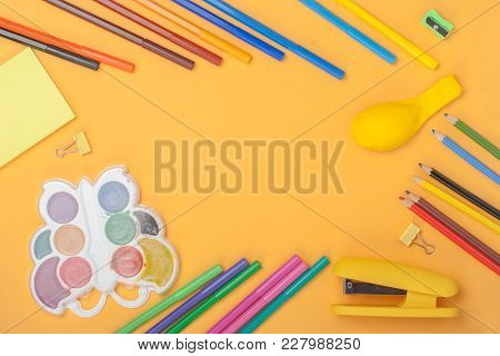 School Tools And Accessories. Back To School Concept.