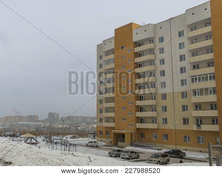 Modern Apartment Building. Housing Estate. Cityscape. Contemporary Architecture. Apartment Block. Ci