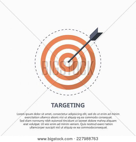 Target Icon For Business Or Sport. Element For Web And Mobile. Flat Vector Illustration.