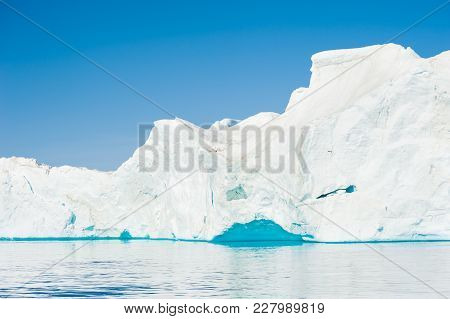 Big Icebergs In The Ilulissat Icefjord, Greenland