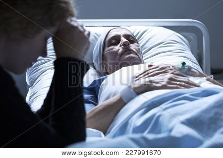 Woman Dying In The Hospital
