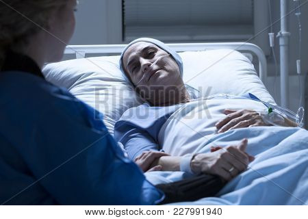 Family Member And Sick Woman