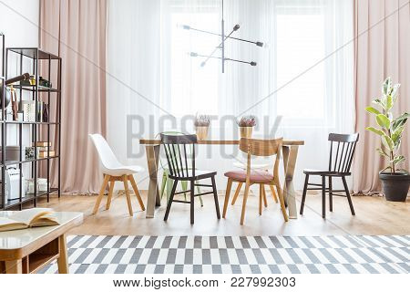 Pastel Dining Room Interior