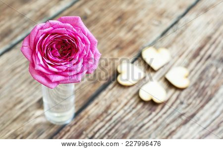 Pink Rose Flower Gift With Love - Greeting Card Idea