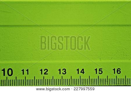 A Detail Of A Green Ruler Detail