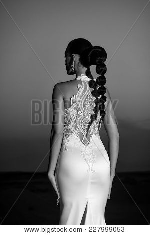 Bride And Wedding Ceremony. Wedding Fashion And Beauty Salon. Elegance And Fashion Model. Woman In W