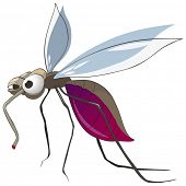 Cartoon Character Mosquito poster
