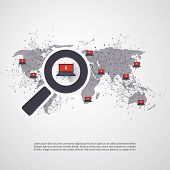 Security Audit, Virus Scanning, Cleaning, Eliminating Malware, Ransomware, Fraud, Spam, Phishing, Email Scam, Hacker Attack Effects and Damage - IT Security Concept Design, Vector illustration poster
