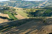Atri Natural Park (Teramo Abruzzi Italy) landscape at summer poster