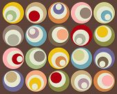 Retro colorful circles of different shapes and sizes poster