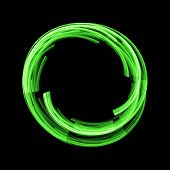 simple abstract green circle on dark background poster