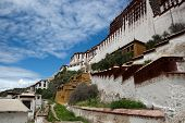Potala palace and cloudscape blue sky in Lhasa Tibet poster