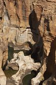 Eroded rock at Bourke's Luck Potholes on the Blyde River in Mpumalanga, South Africa poster
