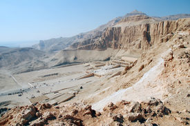 Egypt. Luxor. View of the Hatshepsut Temple.