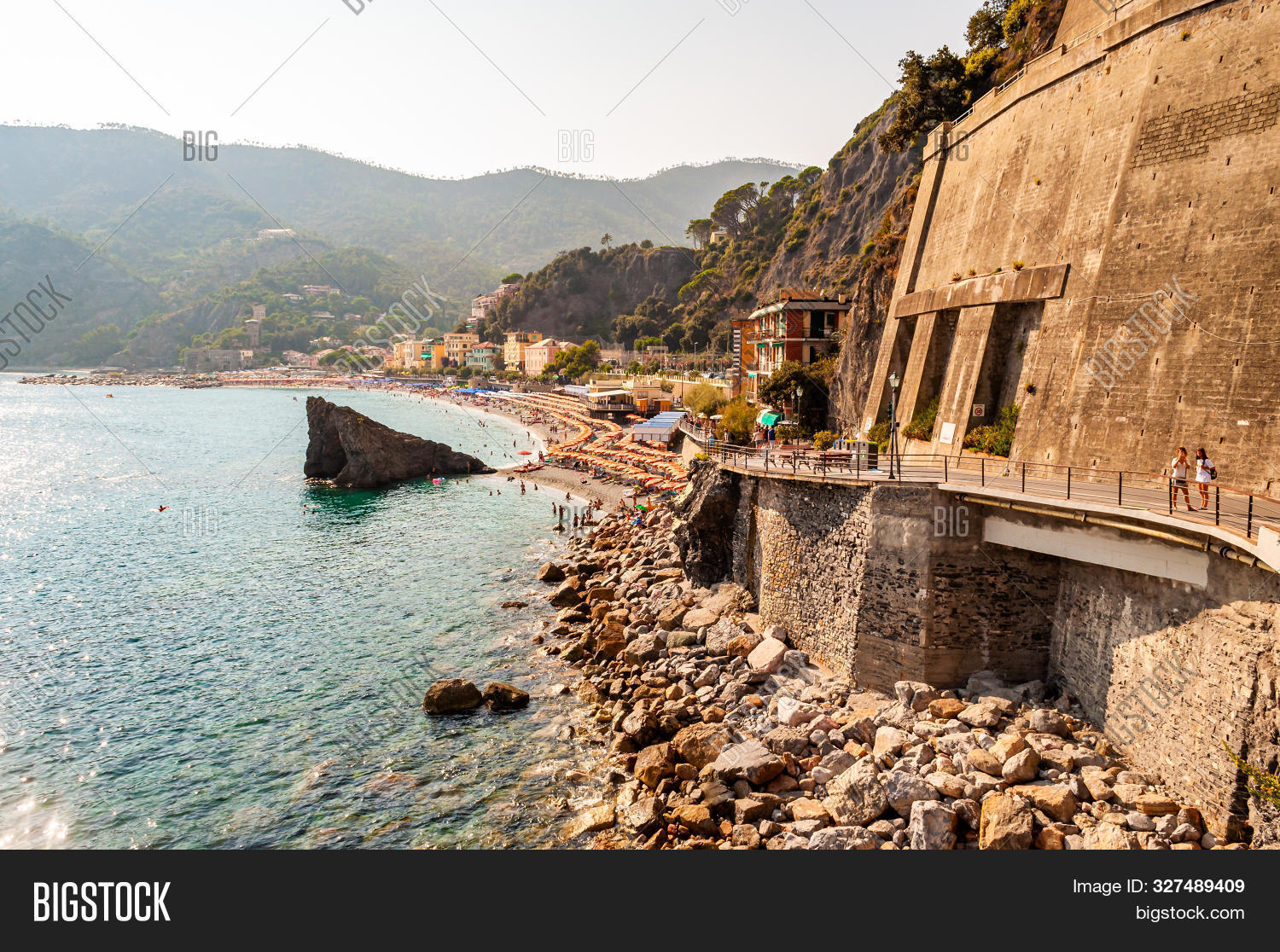 Monterosso Al Mare, Italy - September 02, 2019: On The Way To The Famous Beach In Monterosso Al Mare