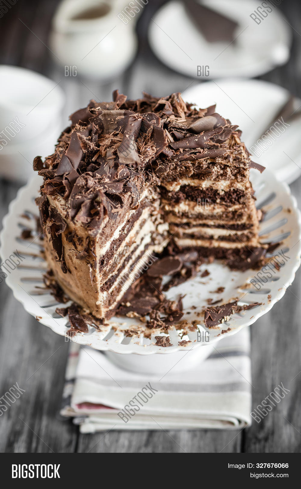Creating a delicious multi-layered cake at home