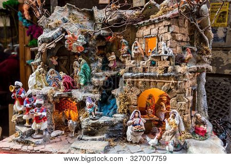 The Art Of Neapolitan Nativity Of S. Gregorio Armeno, S. Gregorio Armeno Is A Small Street In The Ol