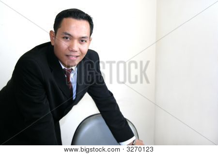 Business Man In His Office