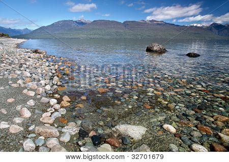 Banks Of The Lake Te Anau, New Zealand