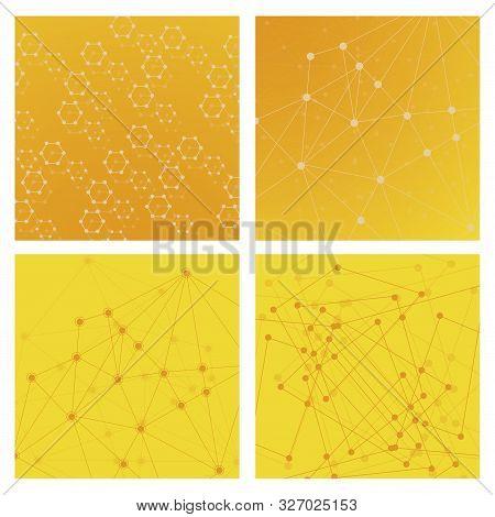 Set Of Genetic Engineering Nanotechnology Medical Clinic. Pharmaceutical Drugs Pills Biology Molecul