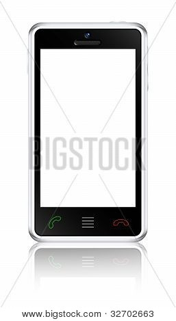 Touchscreen Smartphone Concept. Vector Illustration